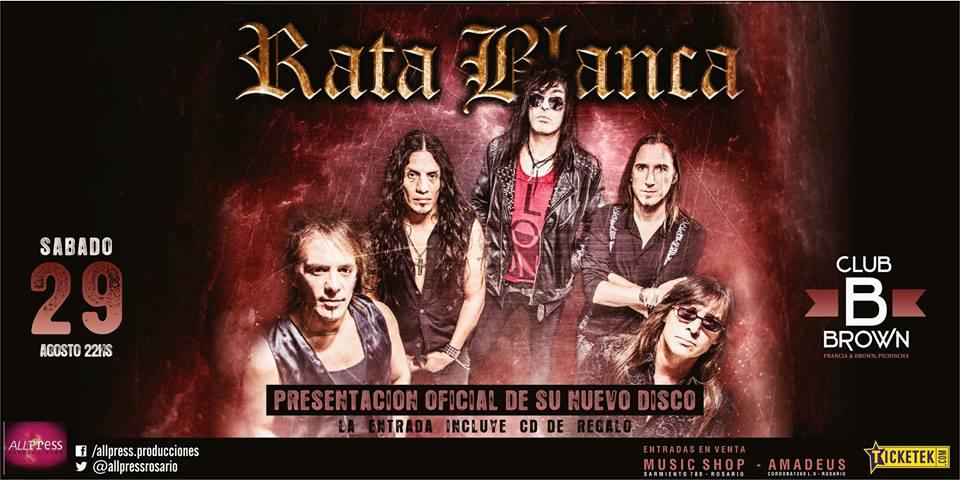 """RATA BLANCA EN EL """"CLUB BROWN"""" - 29/08/2015"""