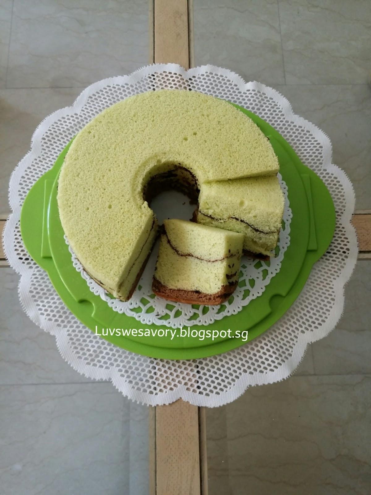 Chocolate pandan chiffon cake recipe