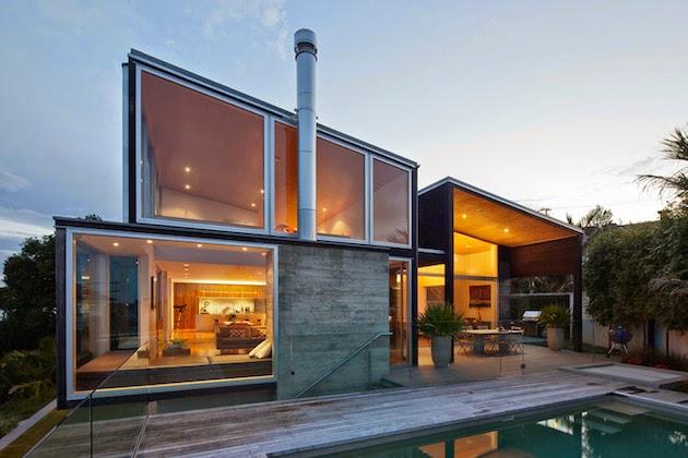 Casas minimalistas y modernas casa minimalista en nueva for Casa minimalista industrial