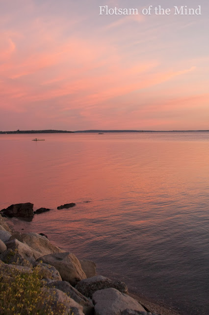 Narragansett Bay just after sunset