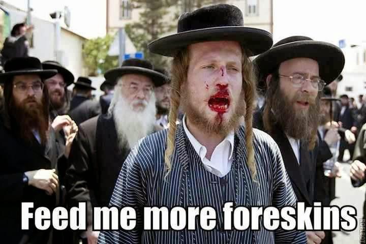 Image result for rabbi bites off foreskin