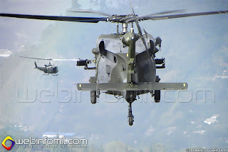 Helicopteros S70i Black hawk y Bell UH-1N Cazador en formación