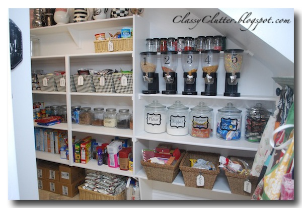 Kitchen pantry makeover classy clutter for Organization ideas for kitchen pantry