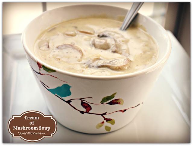 Homemade Cream of Mushroom Soup!
