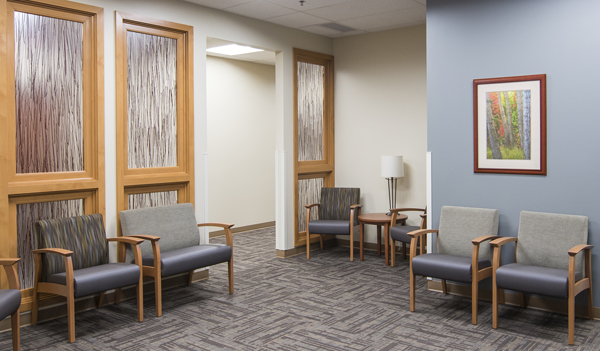 Medical Office Suite With Global Industries Furniture And Calming Color  Palette
