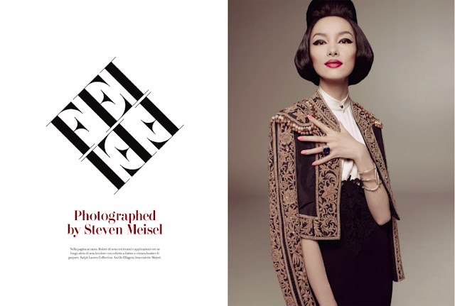 Model Fei Fei Sun Vogue Italia by Steven_Meisel