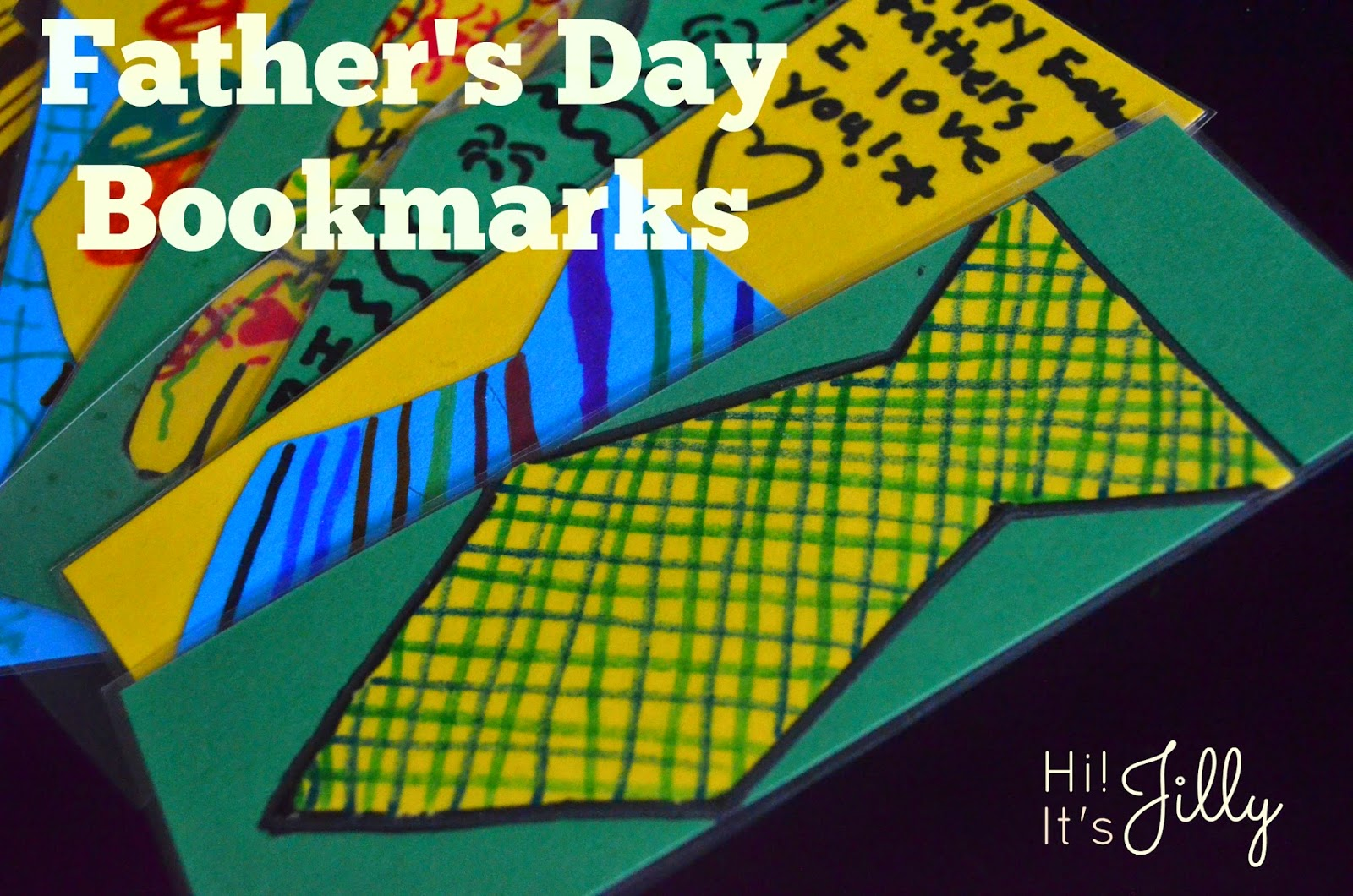 Father's Day Tie Bookmarks. So quick and easy! #fathersday #bookmark #kidscraft