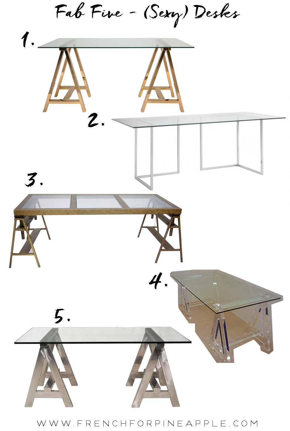 Fab Five Sexy Desks - French For Pineapple Blog