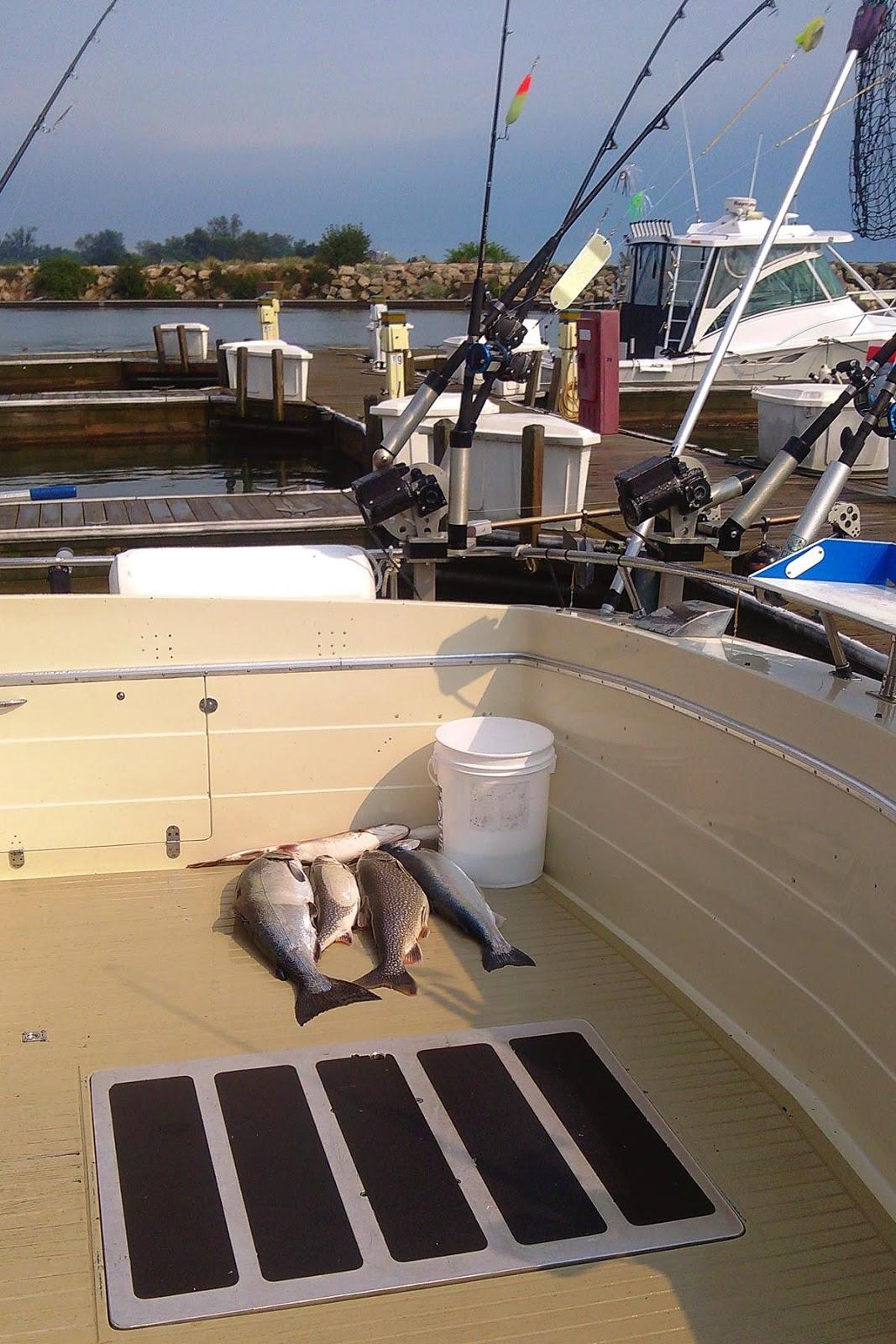 Charter boat fishing on Lake Michigan