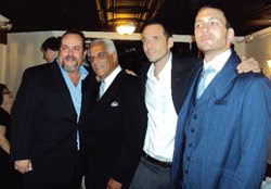Eric Ferrara with friends at the Goodfellas 20th Anniversary event