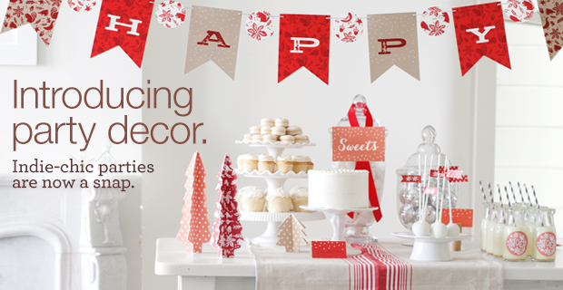 Minted party decor Christmas