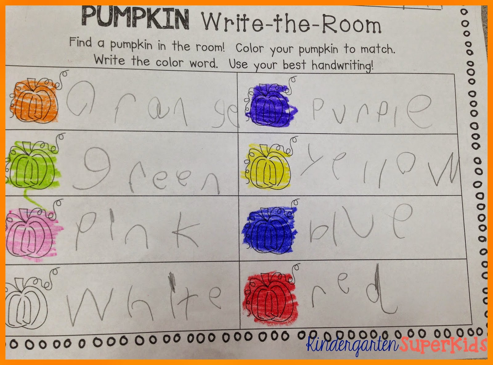 http://www.teacherspayteachers.com/Product/Pumpkin-Color-Words-Write-the-Room-1510380