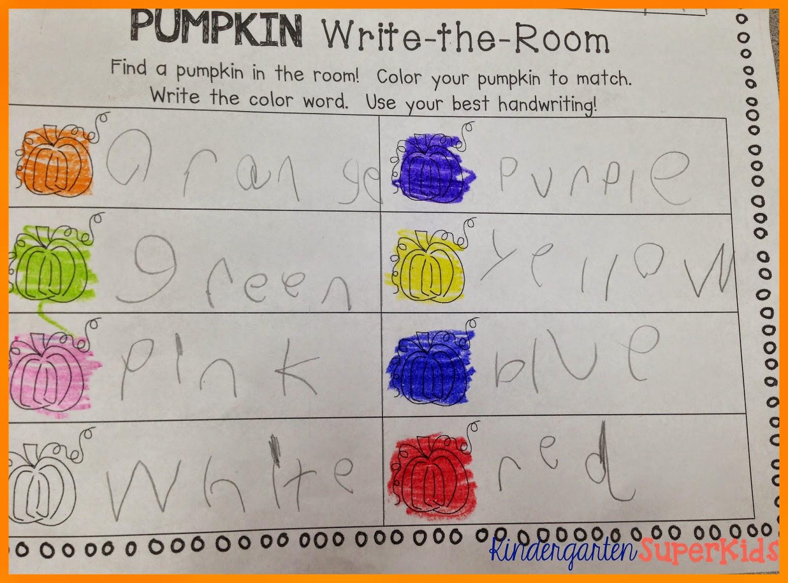 http://www.teacherspayteachers.com/Product/Pumpkin-Color-Words-Write-the-Room-1510380