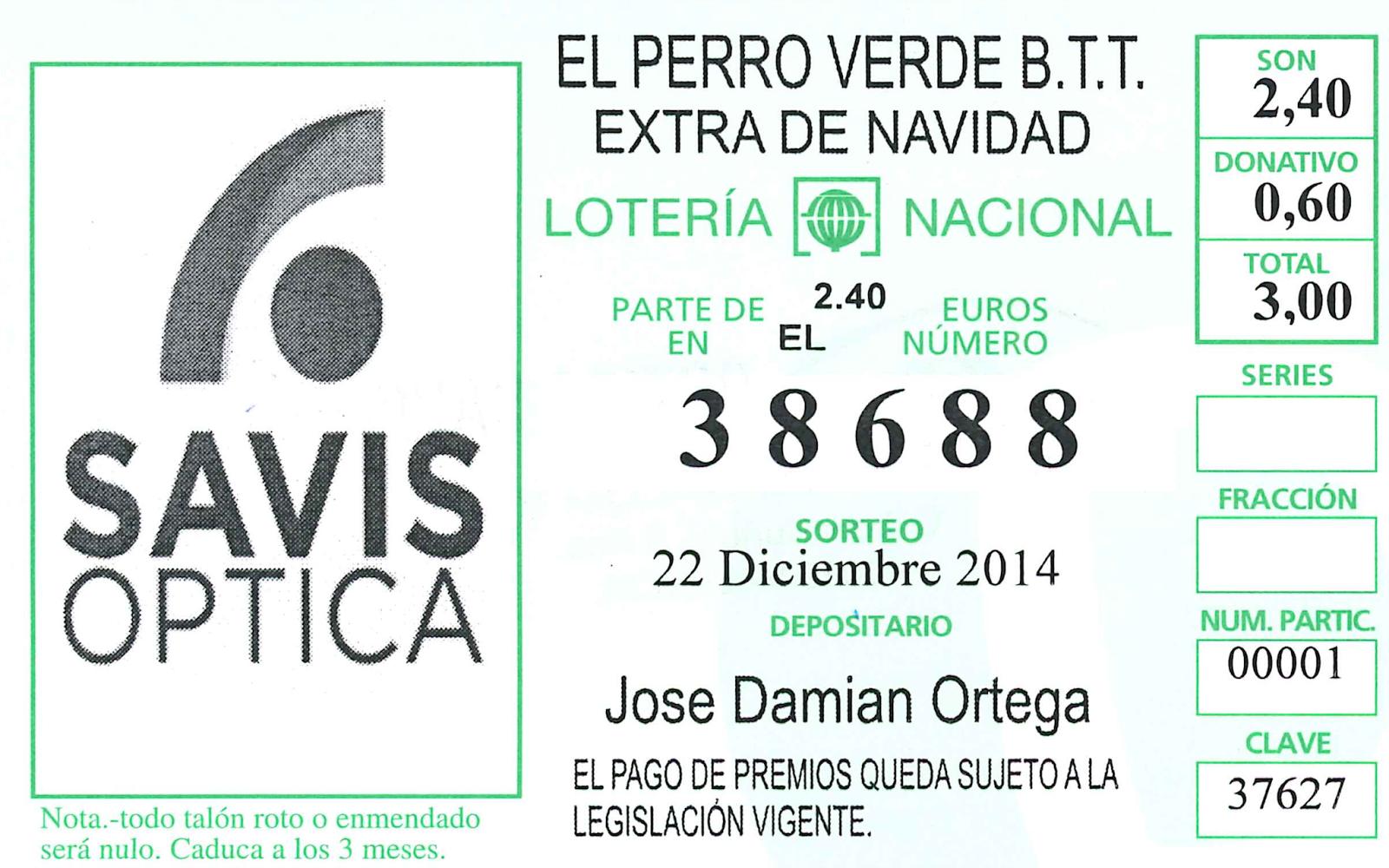 Compra tu lotería de Navidad en Óptica Savis, C/Luis Buñuel nº3, zona Nou Campanar