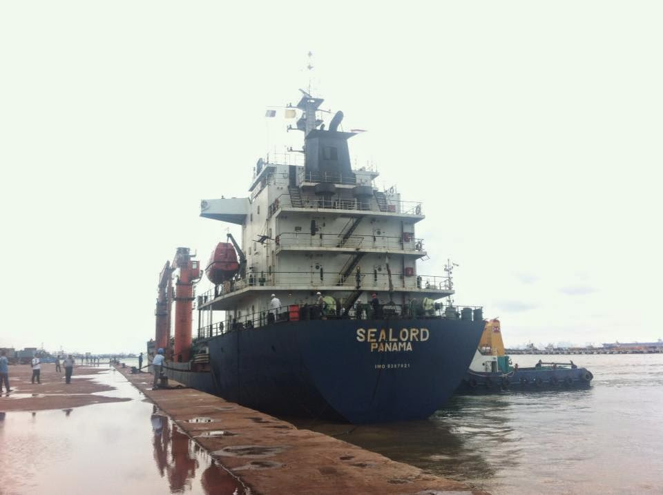 Draft Survey Kapal MV. SEA LORD at Batam