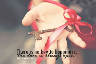 There is no key to Happiness- Happiness quotes