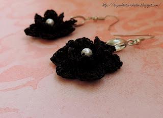 вязание крючком, вязаные украшения, вязаные цветы,