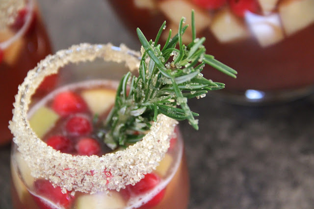 Non-Alcholic Mulled Apple Cranberry Sangria