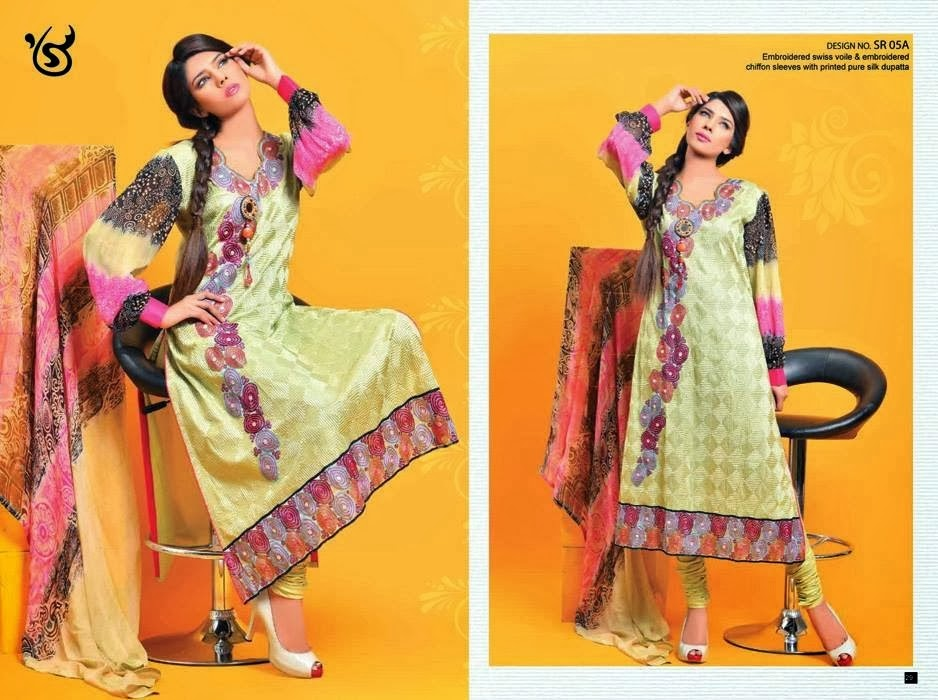 Lawn Embroidered Dresses for Girls