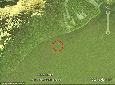 Presunto avvistamento satellitare del mostro di Loch Ness