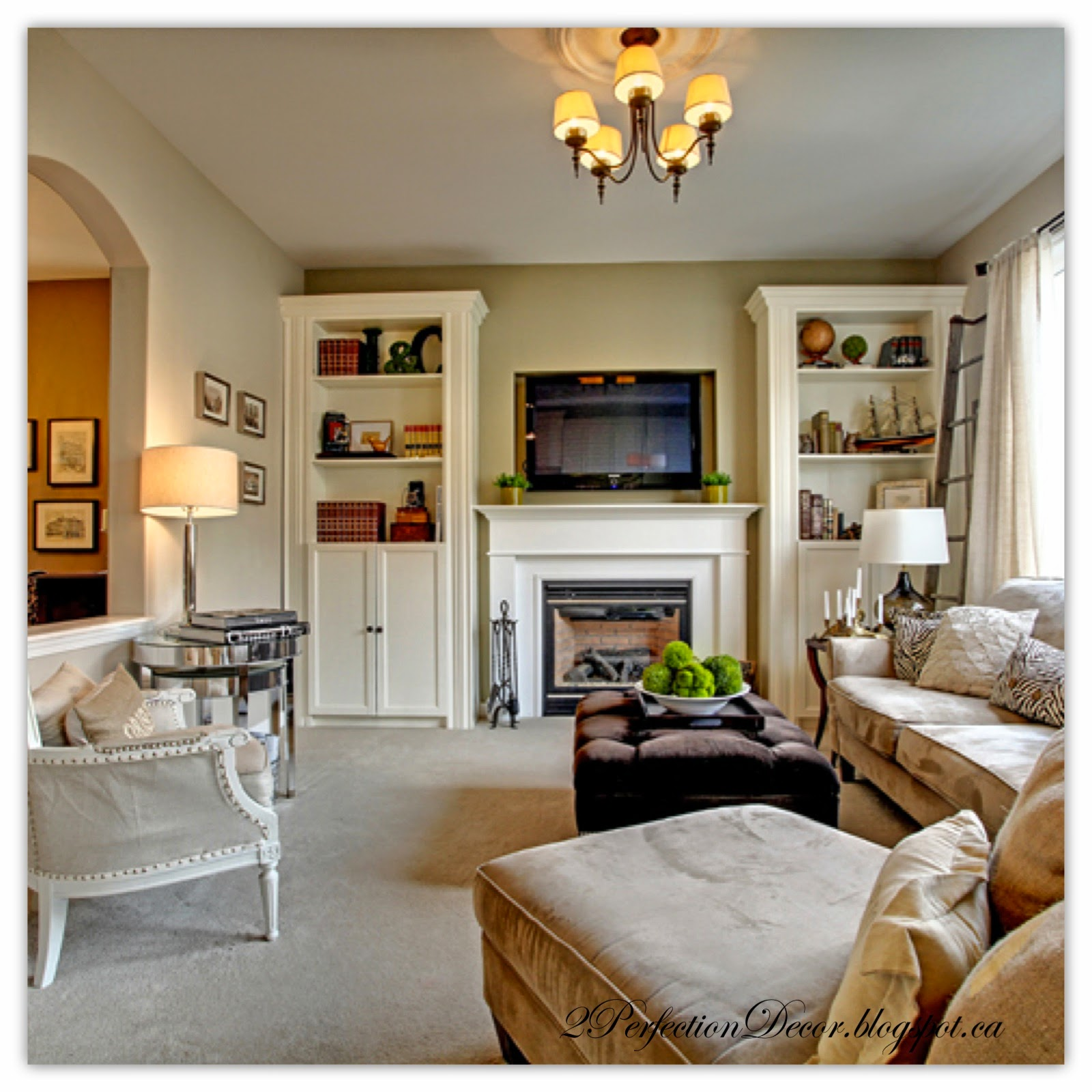 2perfection Decor Built In Bookshelves To Flank Fireplace