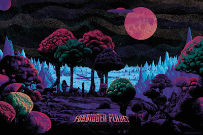 Forbidden Planet Canvas Edition Screen Print by Kilian Eng