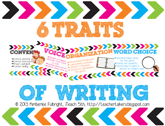6 1 writing traits posters The 6 traits of writing by: teachers could spend the entire year working with the writing process and the 6 traits and never exhaust the use 6-traits posters.