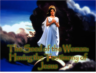 seed of woman having testimony of Jesus-woman with crown