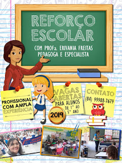 """Reforço Escolar é Com a Professora """"Erivania Freitas"""". Vagas abertas"""