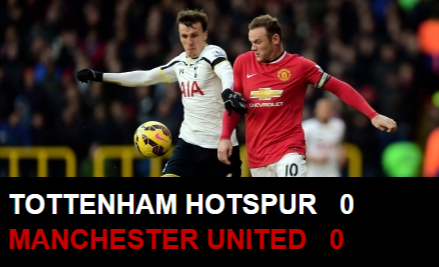 Spur vs United 0-0 EPL 2014