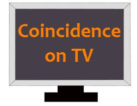 television coincidence clipart