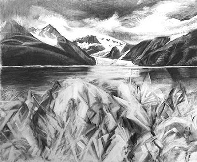 Study for the Ice by Kathy Hodge, Chugach NF aritst in Residence