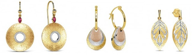 Hammered Gold Jewellery