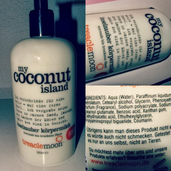 "treaclemoon ""my coconut island"" bodylotion"