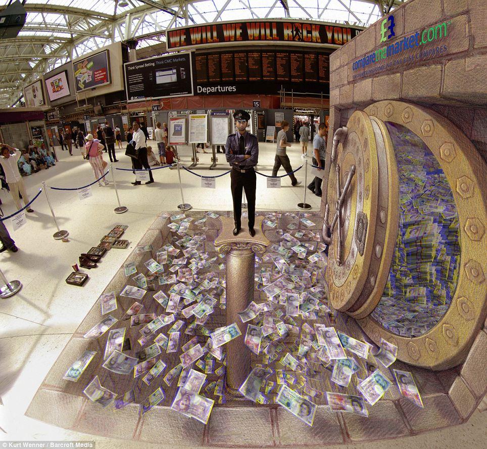 Stunning D Street Art On The Publics Imagination AMAZINGARTS - 17 amazing works of 3d street art