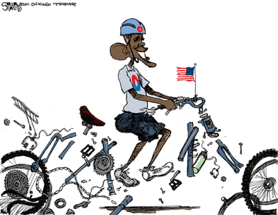 obama back peddling cartoons