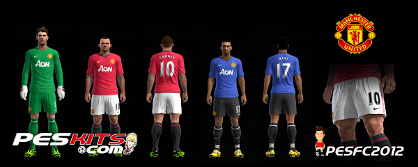 PES 2012 Manchester United 2012/13 Kits Update by Fatih Cesur