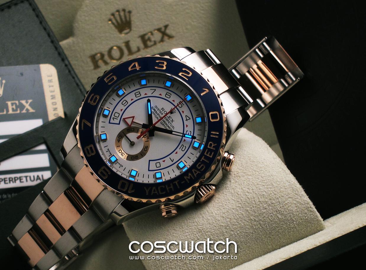 Rolex Yacht Master Ii 18k Rose Gold