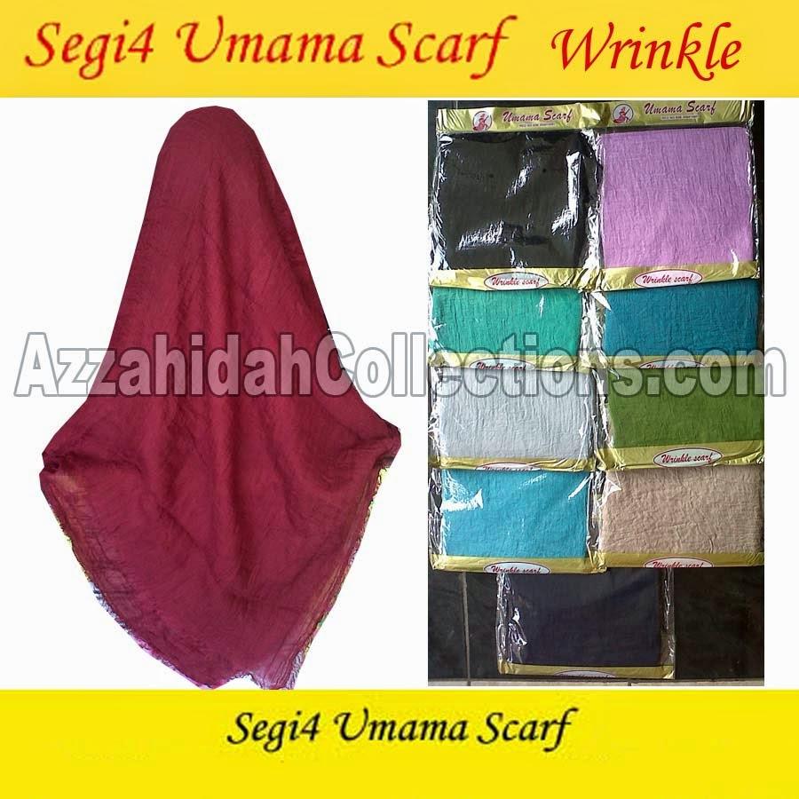 Jilbab Segi Empat Umama Scarf Wrinkle - www.azzahidahcollections.com