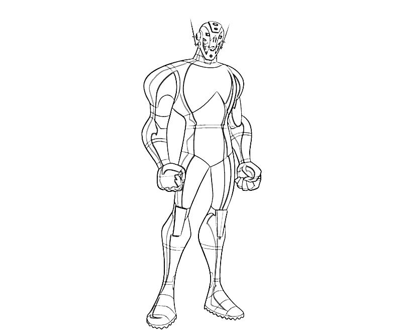 Coloring Pages Avengers Ultron : Ultron coloring page