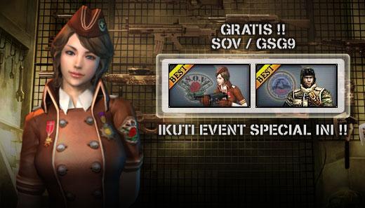 Dapatkan SOV/GSG9 secara GRATIS!!!