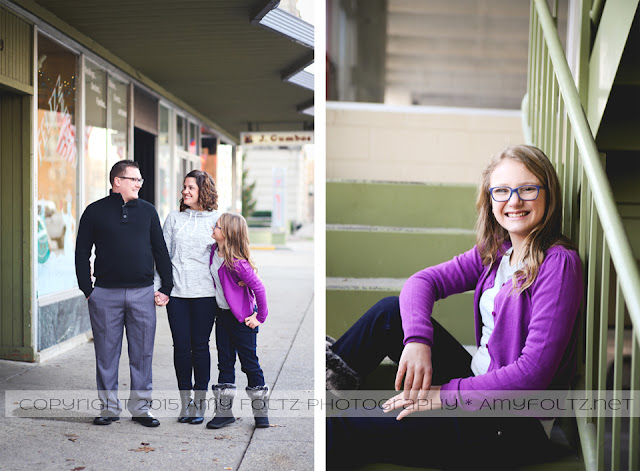 family photo session in downtown Terre Haute, Indiana