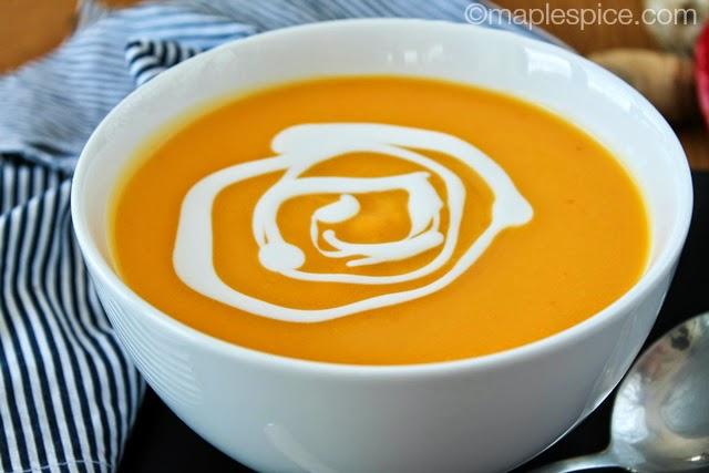 Creamy Spiced Butternut Squash & Coconut Soup. Vegan/Gluten-free/Soy-free