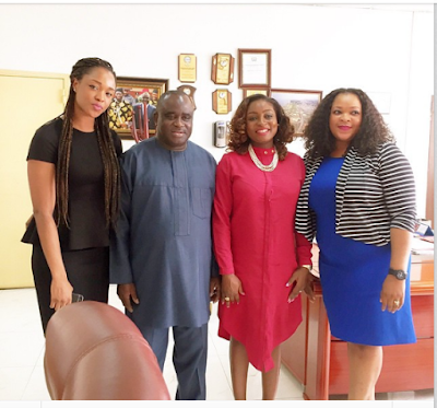 Paul Okoye's Wife, Anita Visits NAFDAC Boss Paul Orhii In His Office