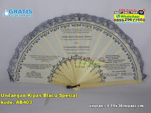 Undangan Kipas Blacu Spesial unik