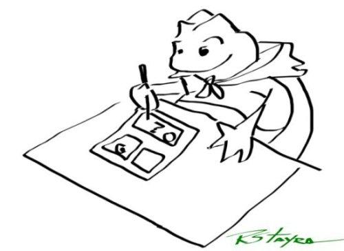 Tom, SapoVoador, desenhando