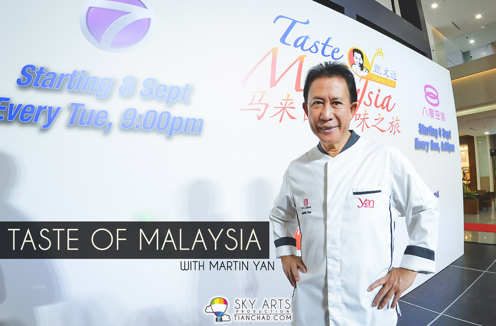 'Taste of Malaysia' Travel & Cooking Programme with Martin Yan on both ntv7  &