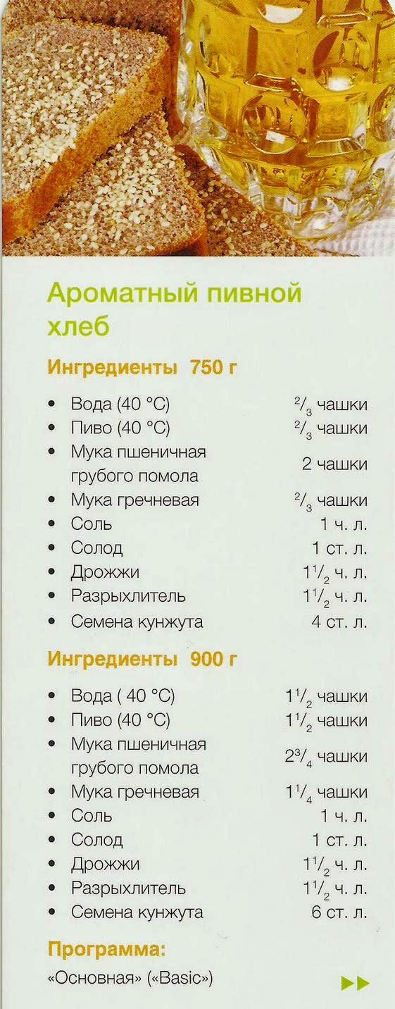 Рецепты к хлебопечки бинатон