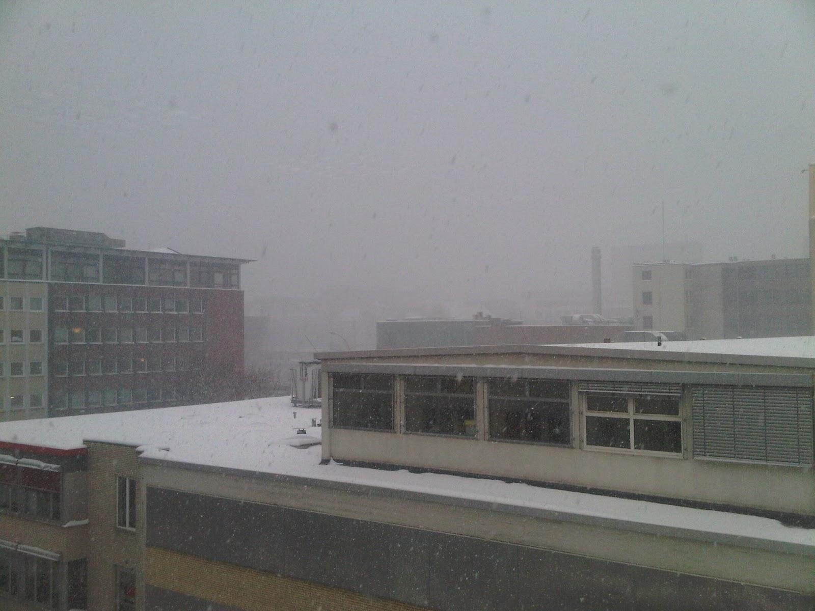 Hammerbrook bei Schneetreiben