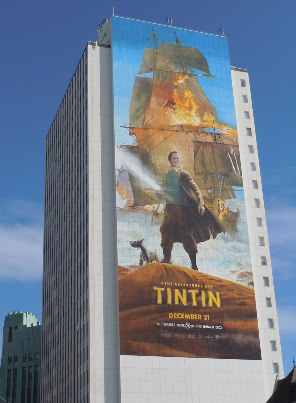 Giant Adventures of Tintin movie billboard